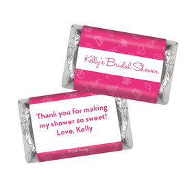 Bridal Shower Favors Personalized Pink Wedding Symbols Hershey's Miniatures
