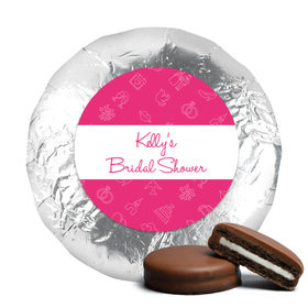 Bridal Shower Favors Pink Wedding Symbols Milk Chocolate Covered Oreo Cookies (24 Pack)
