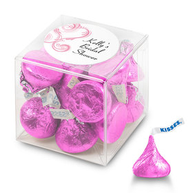 Bridal Shower Favor Personalized Box Swirled Hearts (25 Pack)
