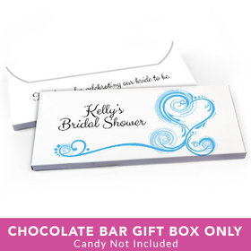 Deluxe Personalized Bridal Shower Swirled Hearts Candy Bar Cover