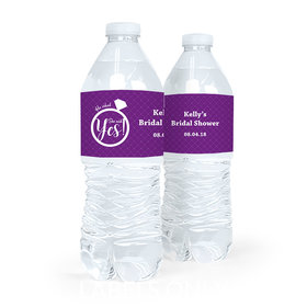 Personalized Bridal Shower Ring Water Bottle Labels (5 Labels)