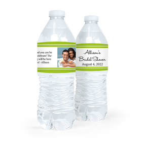 Personalized Bridal Shower Classic Photo Water Bottle Sticker Labels (5 Labels)