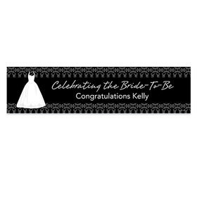 Personalized Brides Dress Bridal Shower Banner