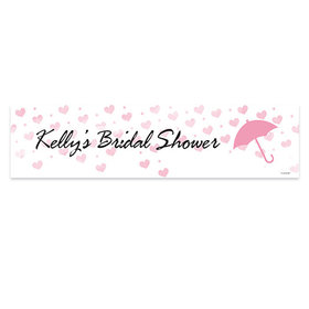 Personalized Hearts Bridal Shower 5 Ft. Banner