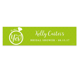 Personalized Bridal Shower She Said Yes 5 Ft. Banner