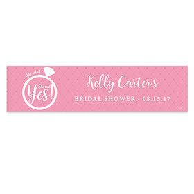 Personalized Bridal Shower She Said Yes Banner