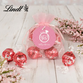 Personalized Bridal Lindt Truffle Organza Bag- She Said Yes