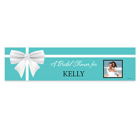Personalized Bridal Shower Bow & Photo 5 Ft. Banner