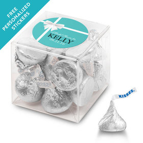 Bridal Shower Favor Personalized Box Tiffany Style Bow (25 Pack)