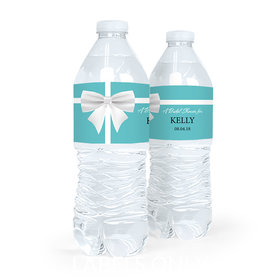 Personalized Bridal Shower Bow Water Bottle Labels (5 Labels)
