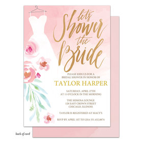 Bonnie Marcus Collection Personalized Watercolor Dress Bridal Shower