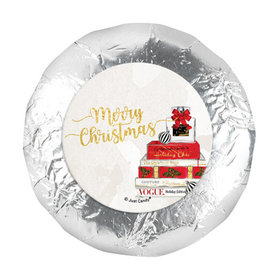 "Personalized Christmas Holiday Chic 1.25"" Stickers (48 Stickers)"