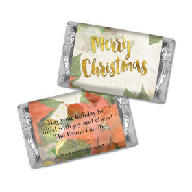 Personalized Christmas Holly Hershey's Miniatures