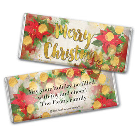 Personalized Christmas Holly Chocolate Bar & Wrapper