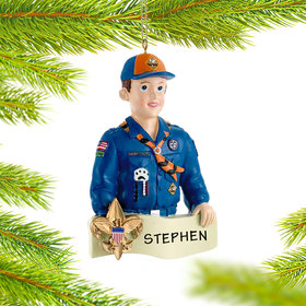 Cub Scout Badge on Banner Ornament