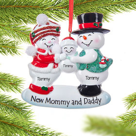 New Mommy and Daddy Family Ornament