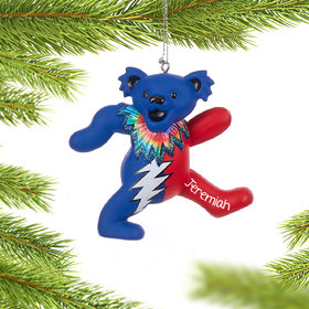 Grateful Dead Dancing Bear (Blue and Red) Ornament