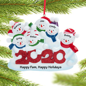 2020 Snowman Family of 6 Ornament
