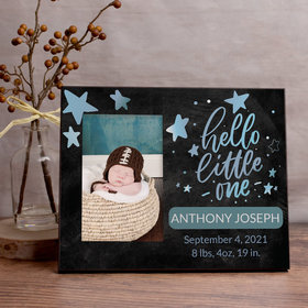 Personalized Hello Little One Blue Picture Frame
