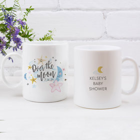 Personalized Baby Shower Over the Moon 11oz Mug