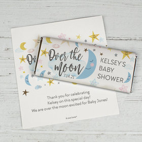 Baby Shower Personalized Chocolate Bar Wrappers Only Over the Moon