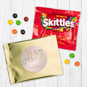 Personalized Girl Birth Announcement Baby Girl Skittles