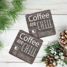 Personalized Neoprene Coaster- Coffee and Chill