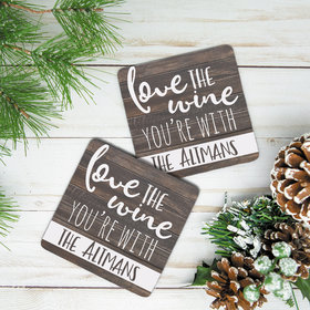 Personalized Neoprene Coaster- Love the Wine You're With