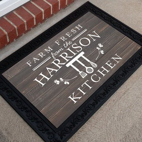 Personalized Doormat Farm Fresh Kitchen