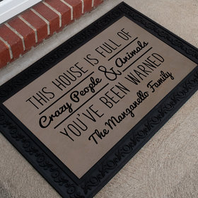 Personalized Doormat Crazy People and Animals