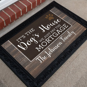 Personalized Doormat Dog's House
