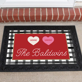 Personalized Doormat Valentine's Day Family of 2