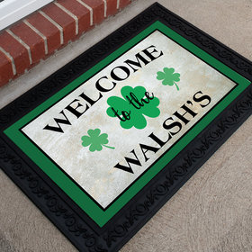 Personalized Doormat St. Patrick's Day Irish Welcome