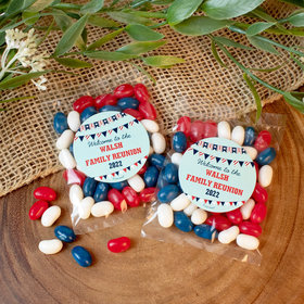 Personalized Patriotic Family Reunion Candy Bags with Jelly Belly Jelly Beans