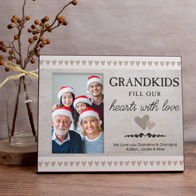 Personalized Grandkids Fill Our Hearts with Love Picture Frame