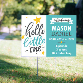 Personalized It's a Boy Yard Sign - Hello Little One