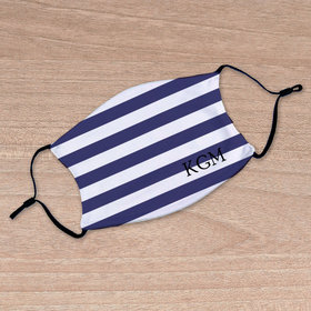 Personalized Face Mask - Nautical Stripes