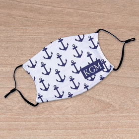 Personalized Face Mask - Nautical Anchors