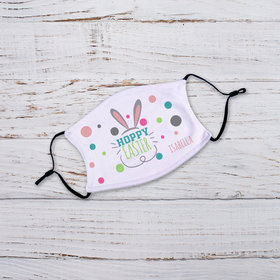 Personalized Youth Face Mask - Hoppy Easter