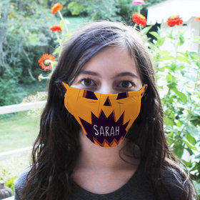 Personalized Face Mask - Halloween Faces Pumpkin