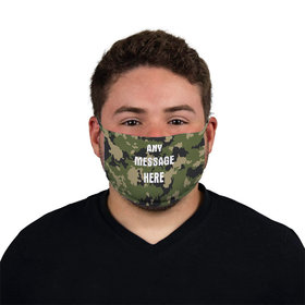 Personalized Face Mask - Camo Write Your Own Message