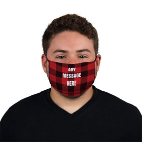 Personalized Face Mask - Plaid Write Your Own Message