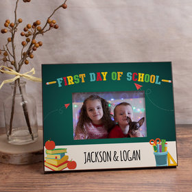 Personalized First Day of School Supplies Picture Frame