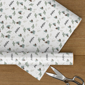 Personalized Let It Snow Logo Christmas Wrapping Paper