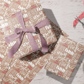 Personalized Kraft Paper Word Cloud Christmas Wrapping Paper