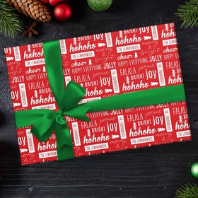 Personalized Happy Everything Christmas Wrapping Paper