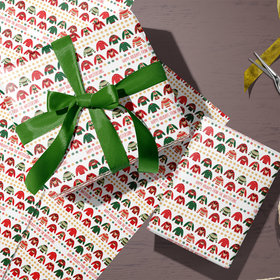 Personalized Ugly Sweater Christmas Wrapping Paper