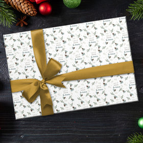 Personalized Let It Snow Christmas Wrapping Paper