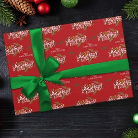 Personalized Merry and Bright Christmas Wrapping Paper