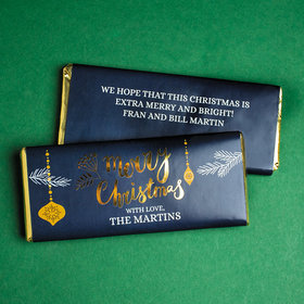 Personalized Christmas Merry Christmas Chocolate Bar & Wrapper